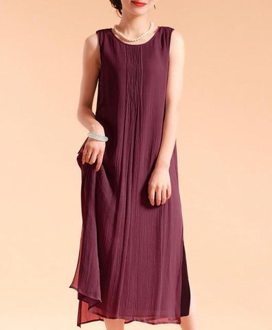 Sleeveless Lined Cotton Dress, Sizes 2-16