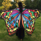Butterfly Peacock Owl Print Chiffon Beach Wrap Cape