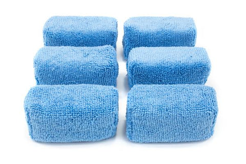 Autofiber [Block Sponge Mini] Petits Applicateurs pour Coating en Microfibre (3 in. x 1.5 in. X 1.5 in.) Ensemble de 6 Passion Detailing
