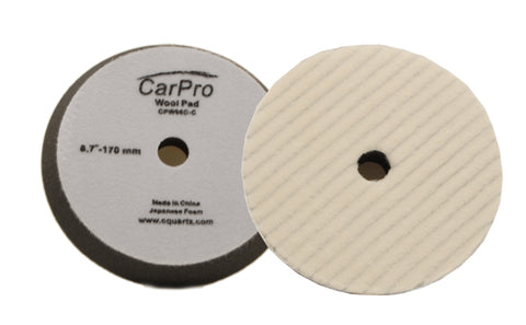 "CarPro Wool Heavy Cutting Pad 6.5"" 170mm Passion Detailing"