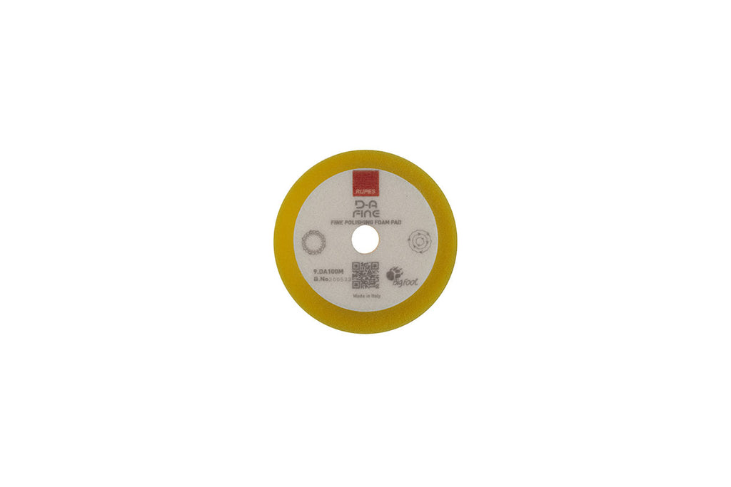 "Rupes DA Fine (3"" - LHR75e) Yellow Fine Finishing Foam Pad 100mm"