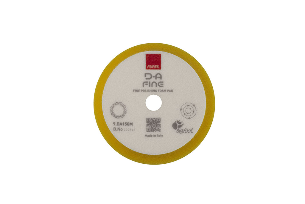 "Rupes DA Fine (5"" - LHR15) Yellow Fine Finishing Foam Pad 150mm"