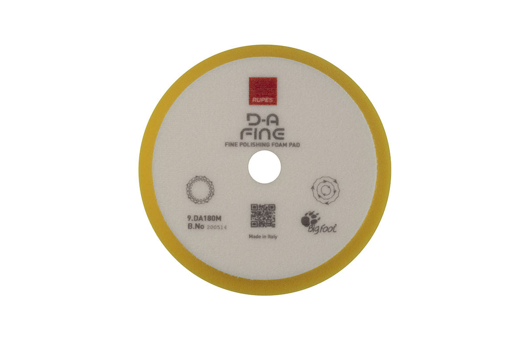"Rupes DA Fine (6"" - LHR21) Yellow Fine Finishing Foam Pad 180mm"