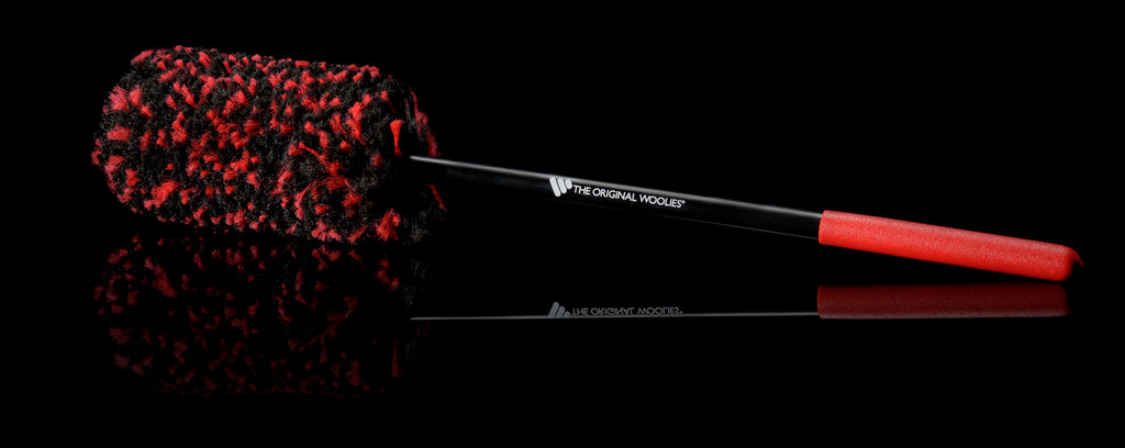 Wheel Woolies 3-Brush Kit w/ Red Grip Handle Passion Detailing