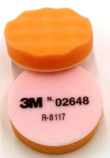 "3M 02648 3"" Orange Foam Polishing Pad Passion Detailing"