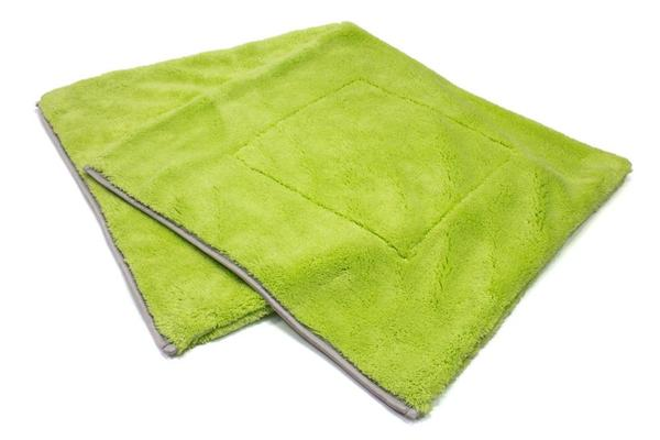 Autofiber [Motherfluffer] Plush Rinseless Wash and Drying Towel (16 in. x 16 in., 1100 gsm) Ensemble de 2 Passion Detailing