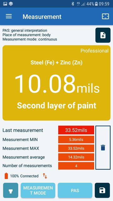 NexDiag NexPTG Professionnal Paint Thickness Gauge