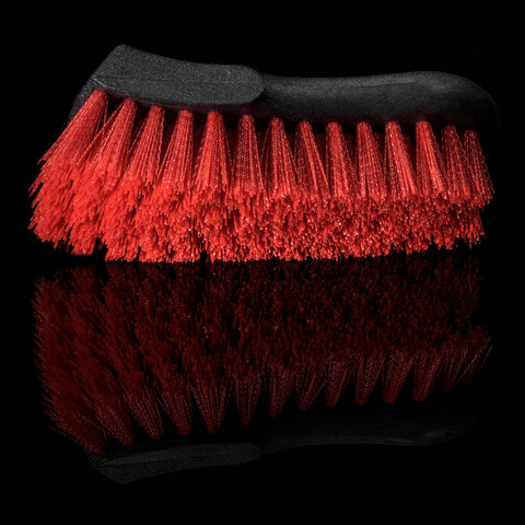Wheel Woolies Leather Upholstery Red Nylon Brush