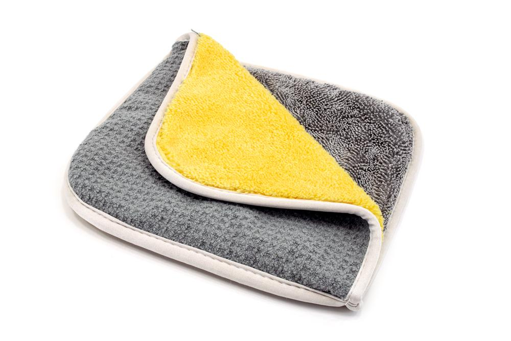 Autofiber [Multi Flip] Four Weave Microfiber Towels - Mesh | Twist | Plush | Waffle (8 in. x 8 in., 500/400/360/300 gsm) 3 pack Passion Detailing