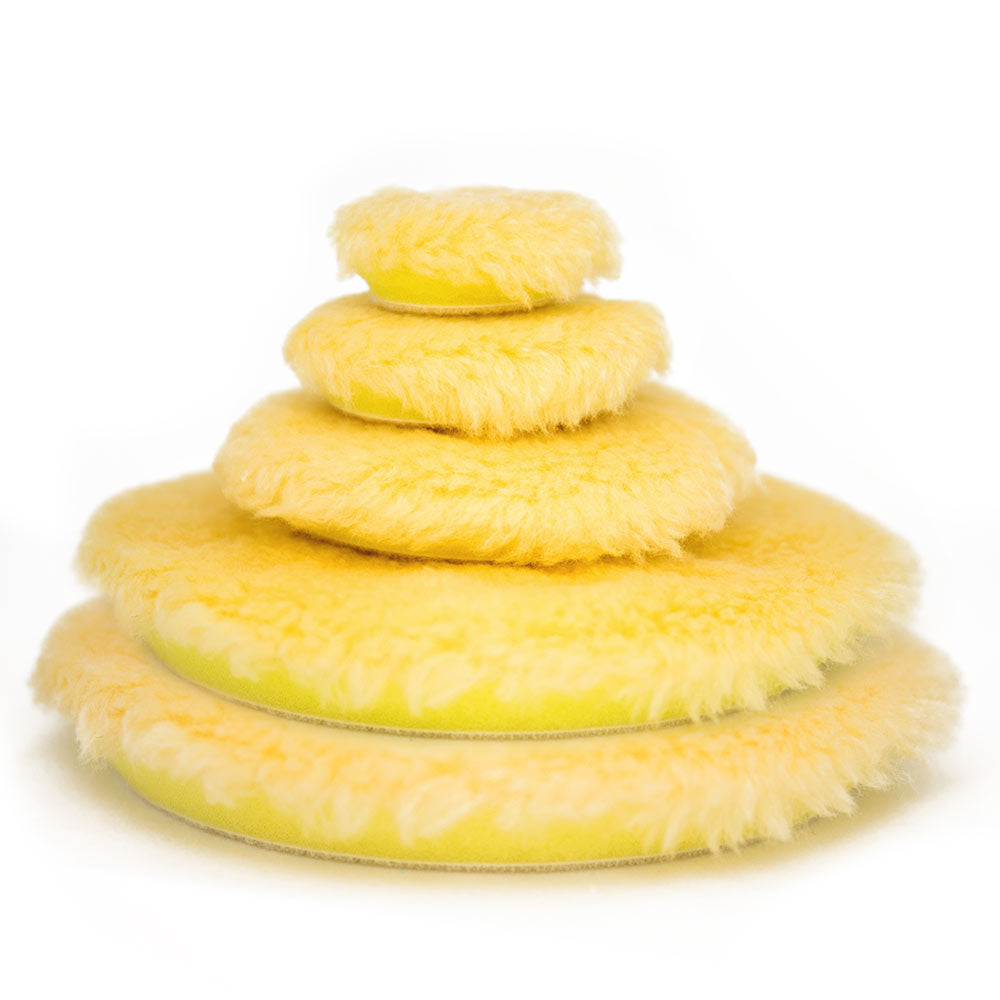 Rupes 100mm Yellow Medium Wool Polishing Pad Passion Detailing