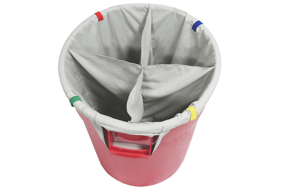 Autofiber [Dirty Towel Separator] Bag Insert for Standard 32 Gallon Trash Can - 4 sections Passion Detailing