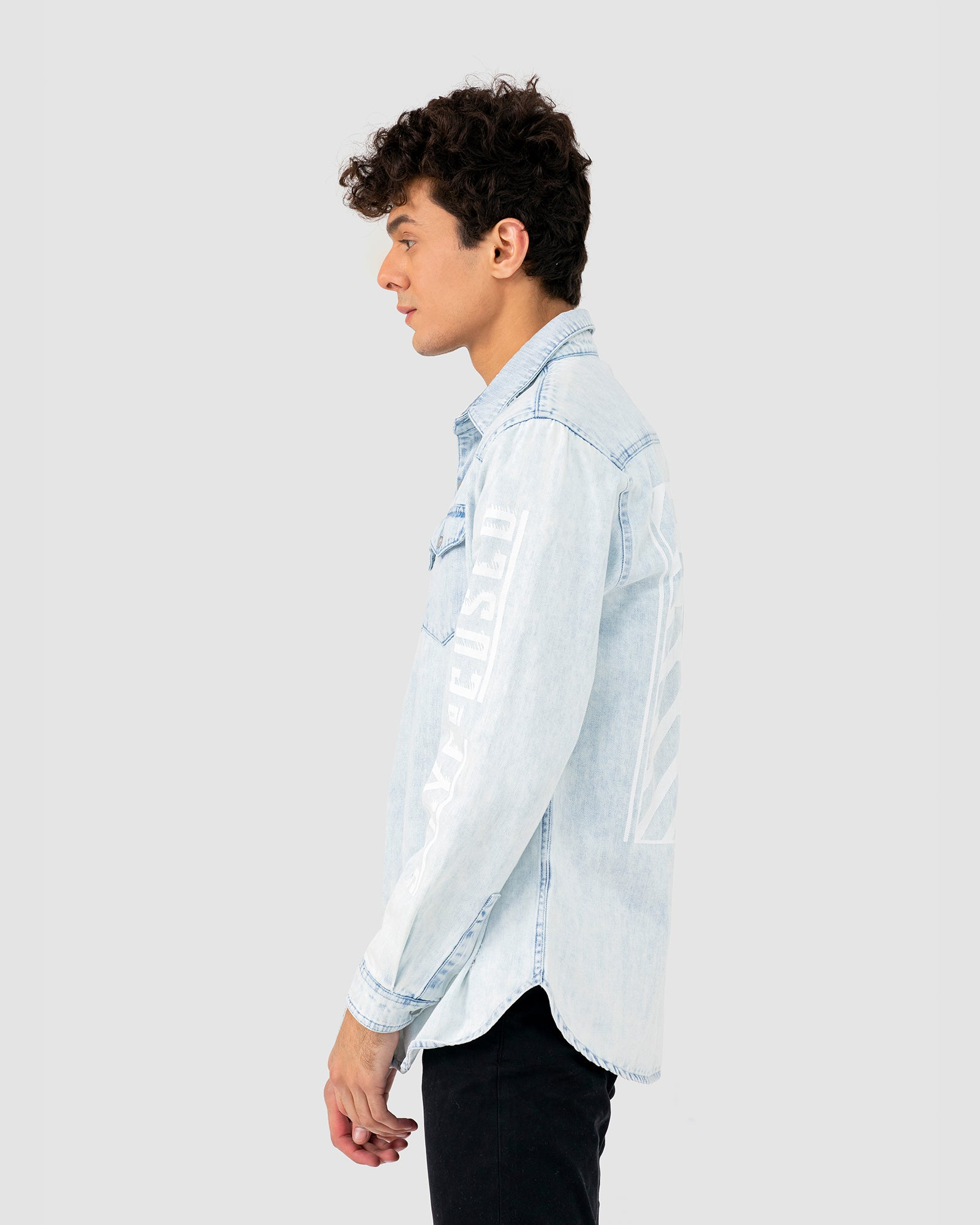 Stay Focused Denim Shirt