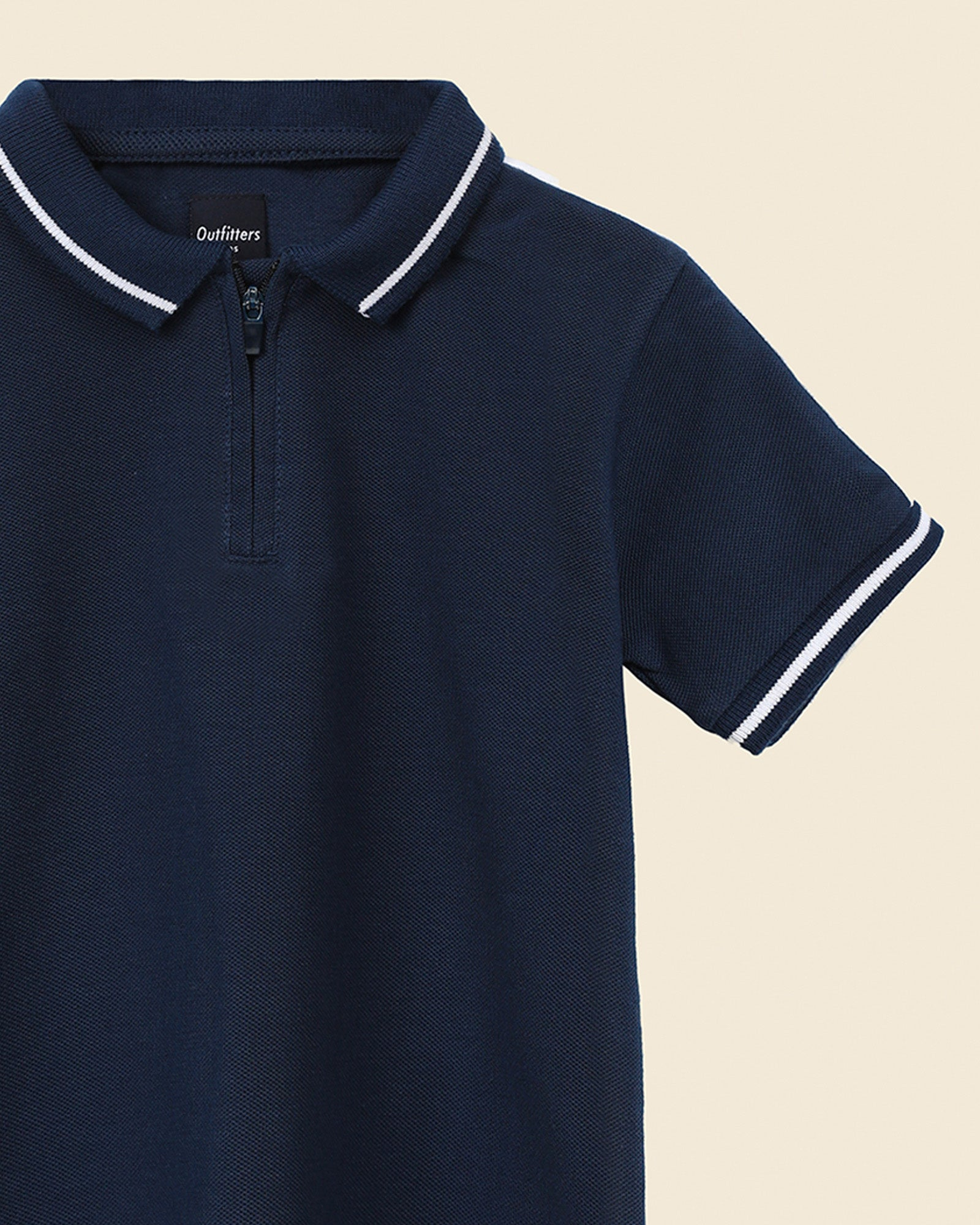 Sleeve Detail Polo Shirt