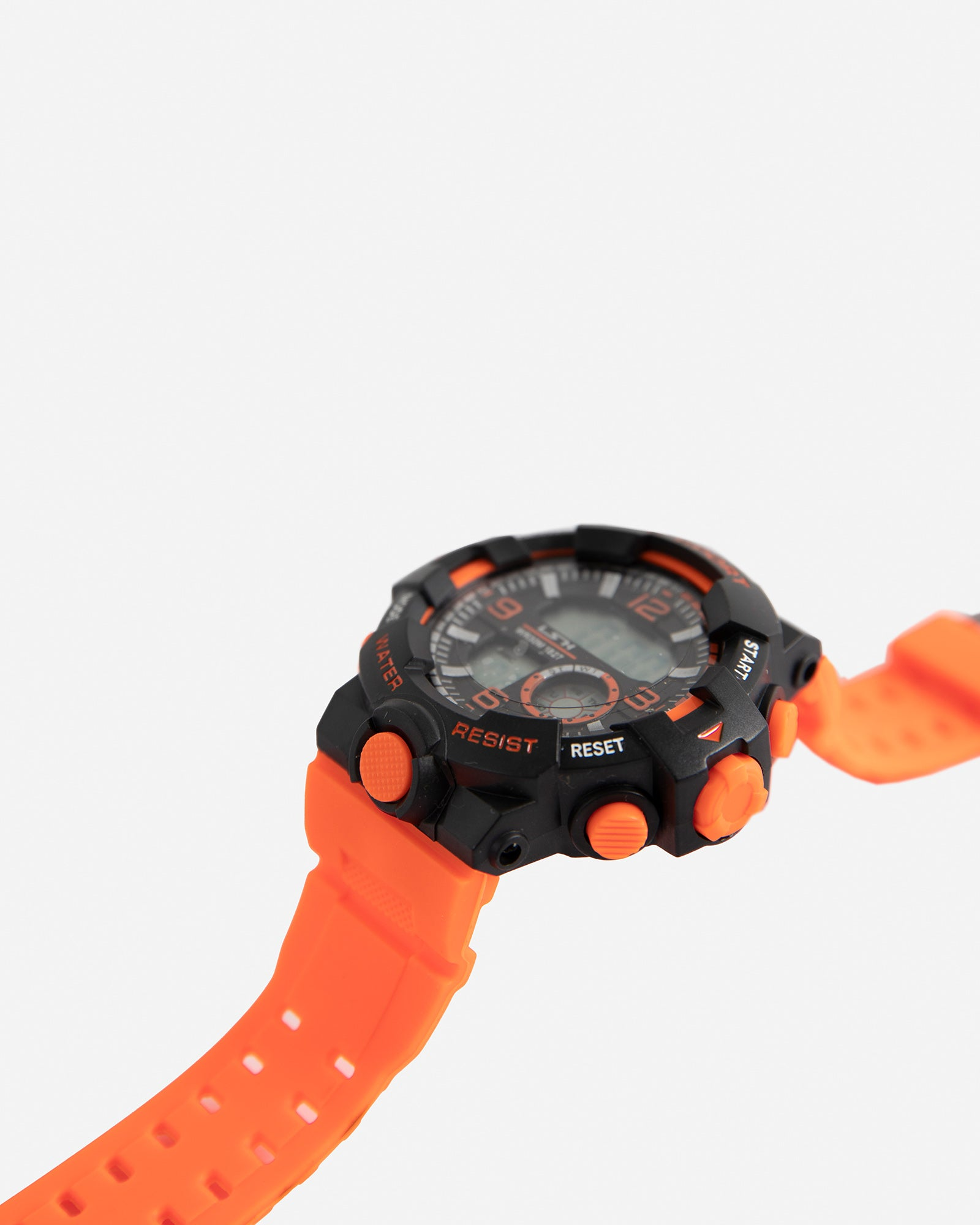 Digital Watch with Neon Strap