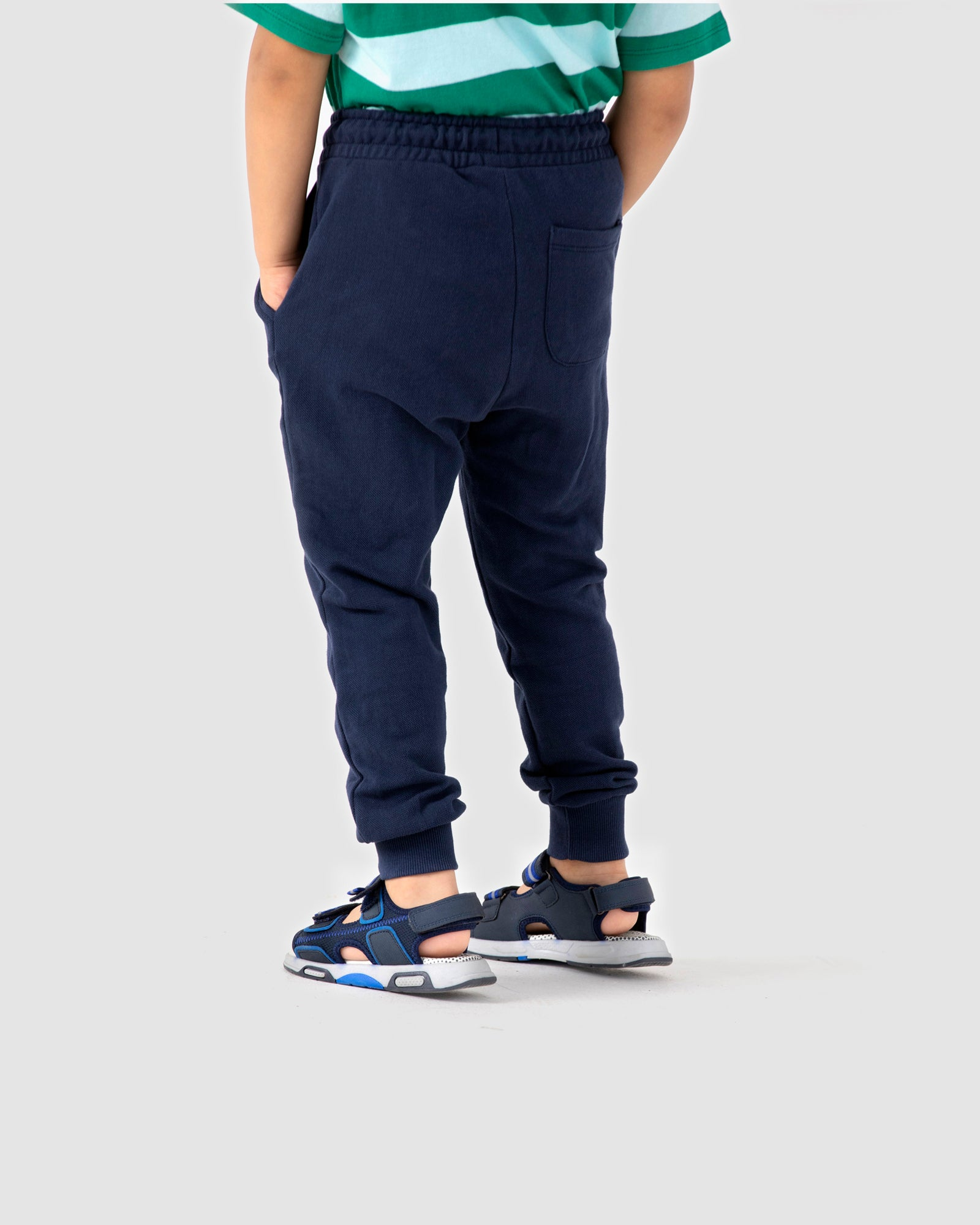 Textured Joggers with Contrast Cord Tip