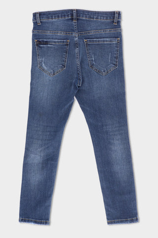 Ripped Jeans Medium Blue