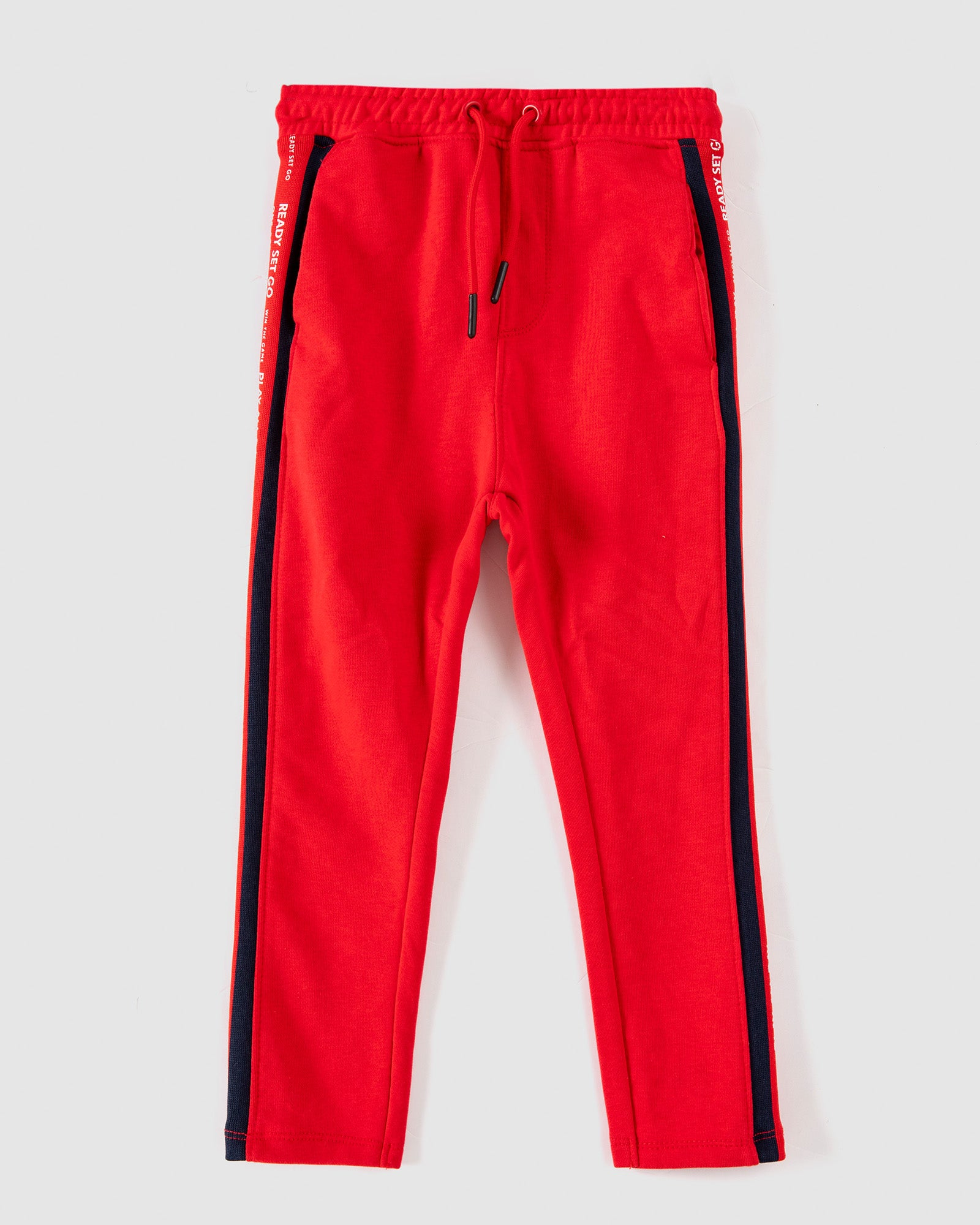 Jogging Trousers with Side Text Tape