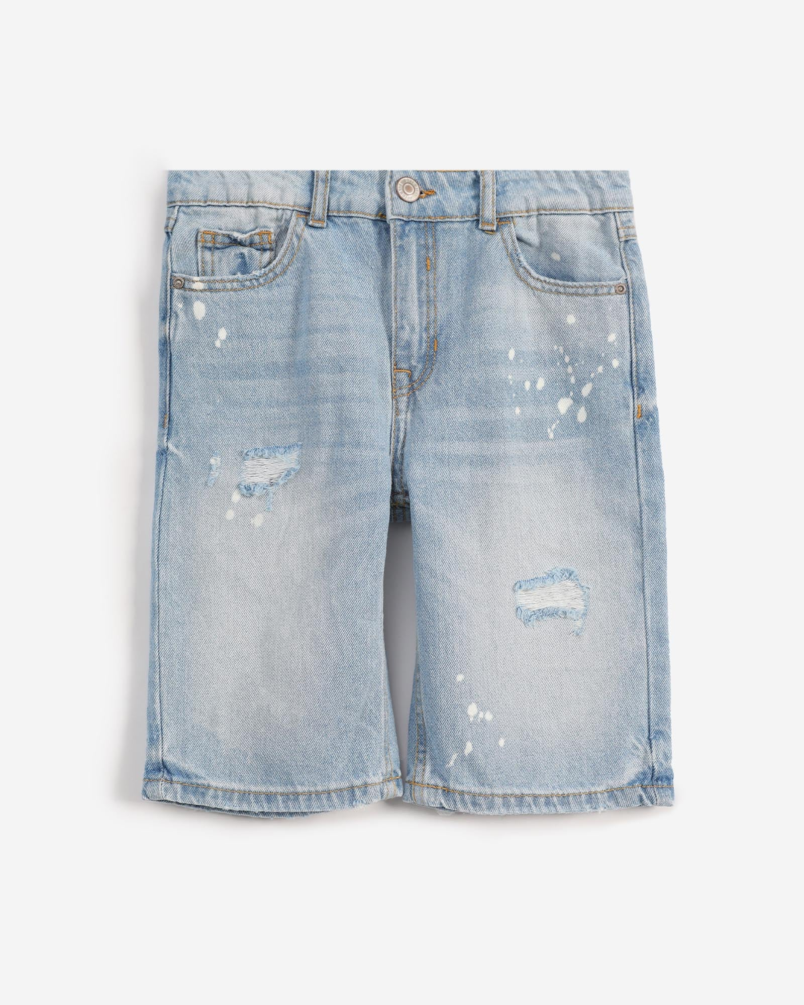Distressed Shorts with splashes