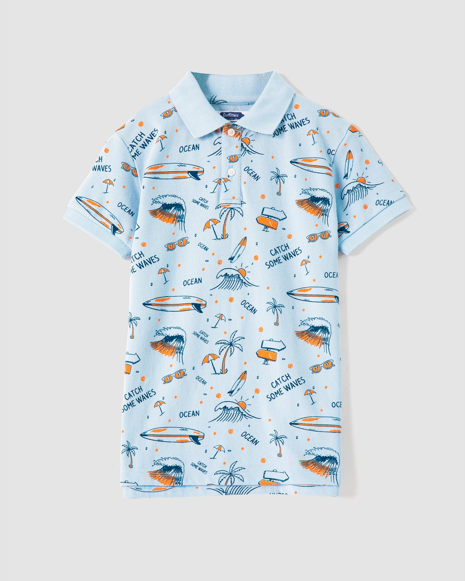 Tropical Polo Tee