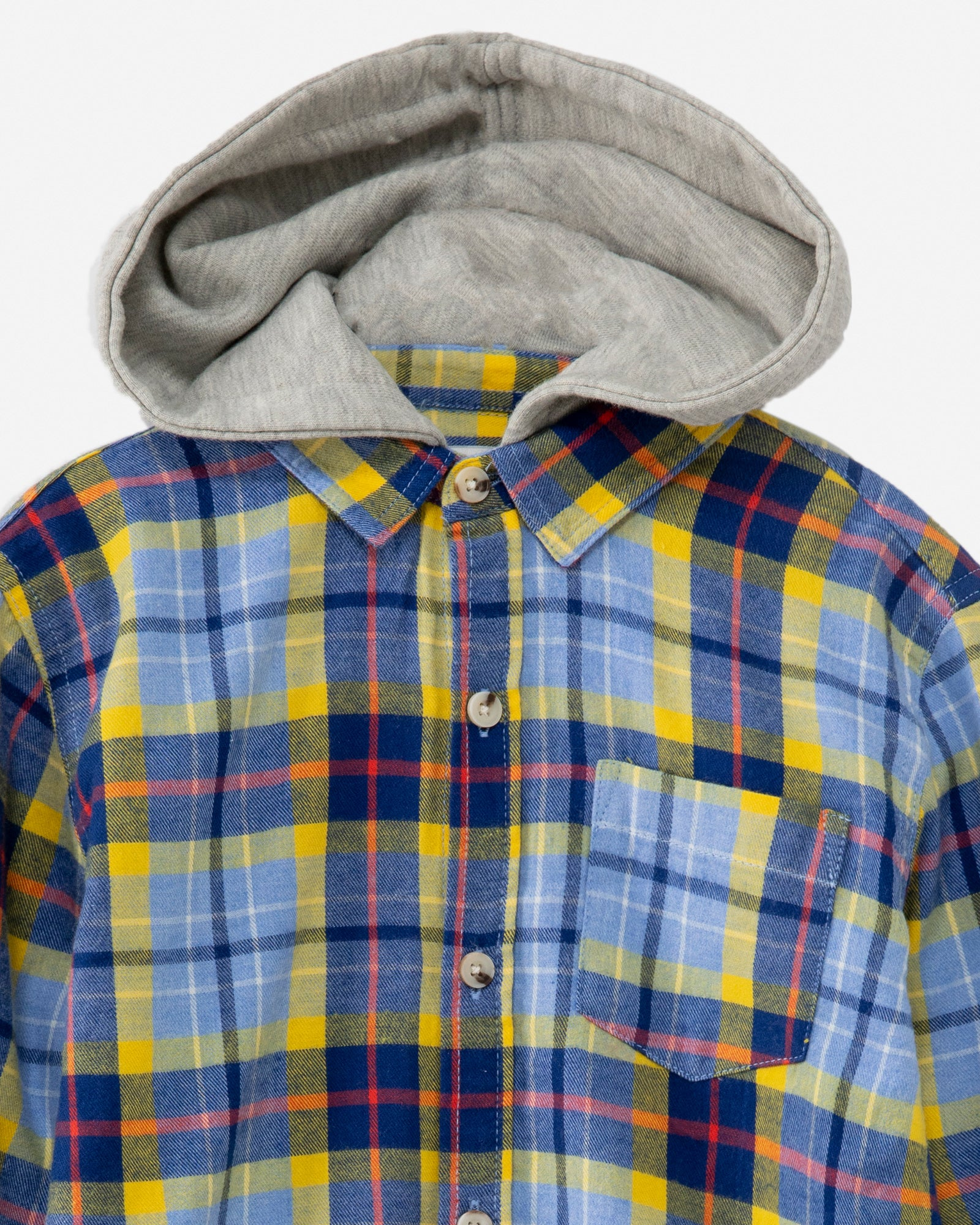 Checkered Hooded Shirt