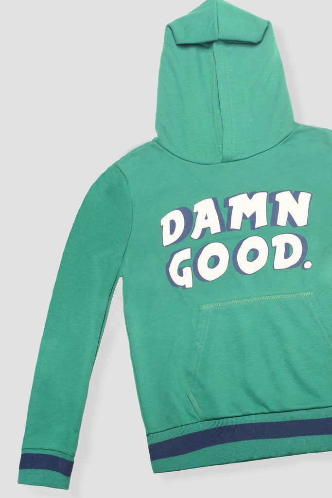 Damn Good' statement hoodie