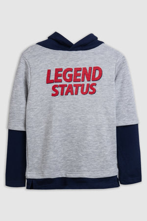 Legend status' statement sweatshirt