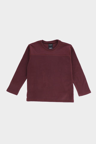 Round Neck Burgundy T-Shirt