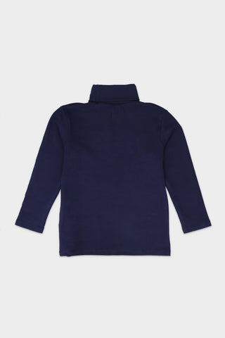 Navy Turtle Neck T-Shirt