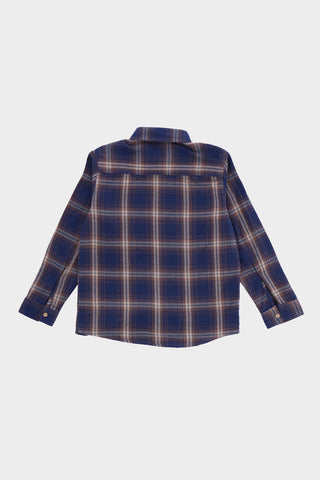 Navy Blue Flannel Shirt