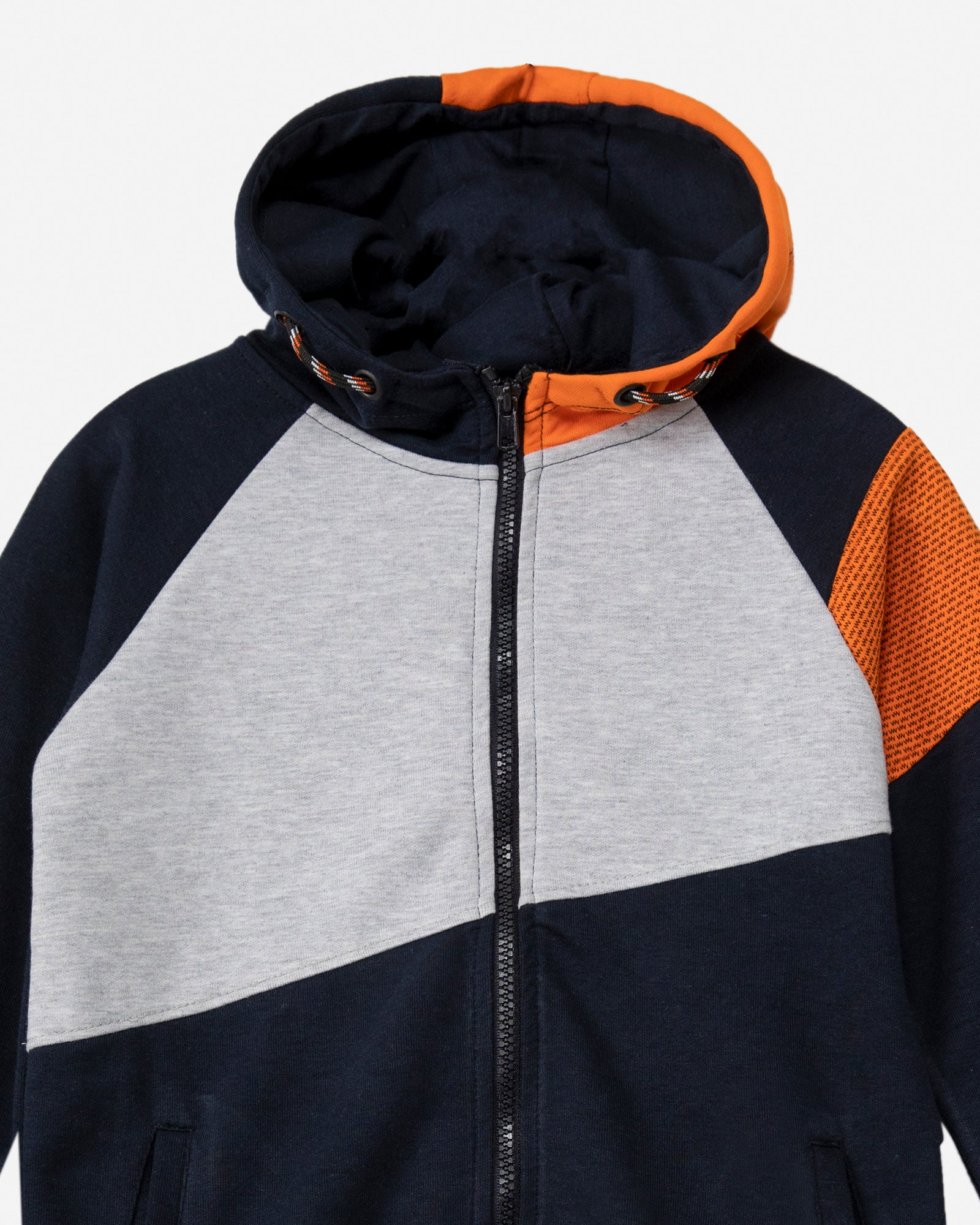 Color Block Zipper Hoodie