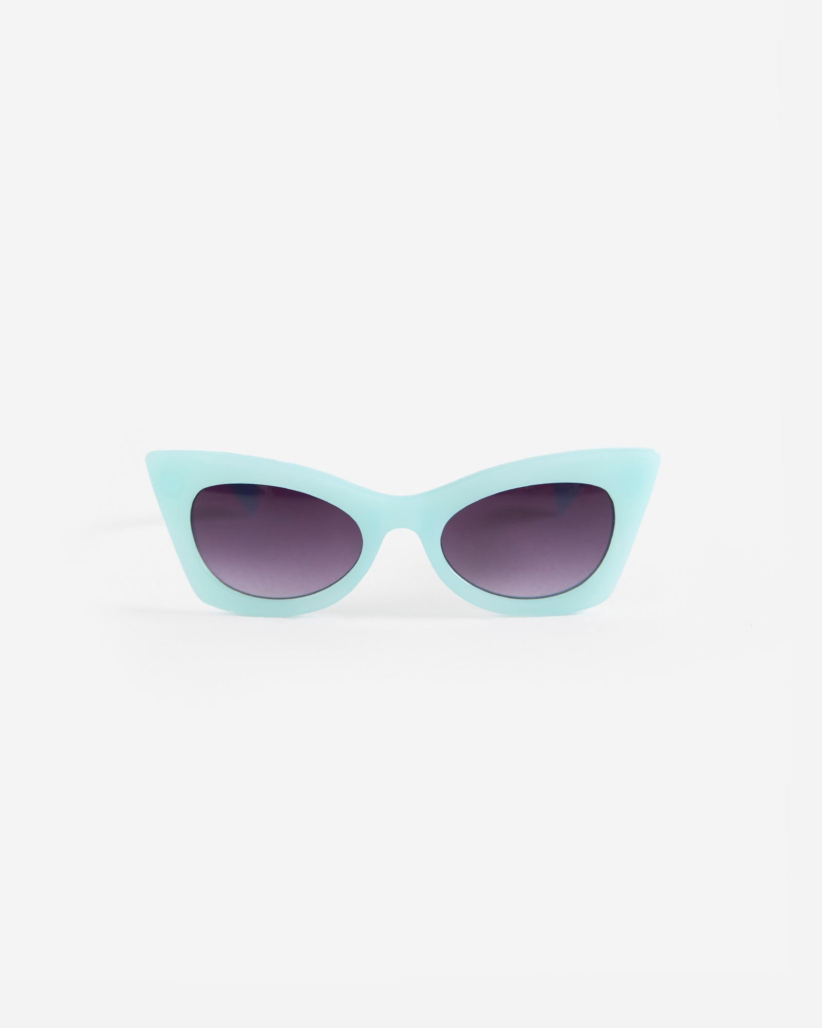 Aqua Color Cat Eye Sunglasses