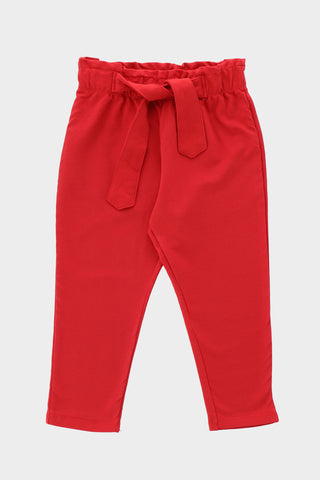 Regular fit belted strap trouser