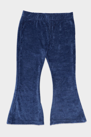 Ribbed Blue Trouser