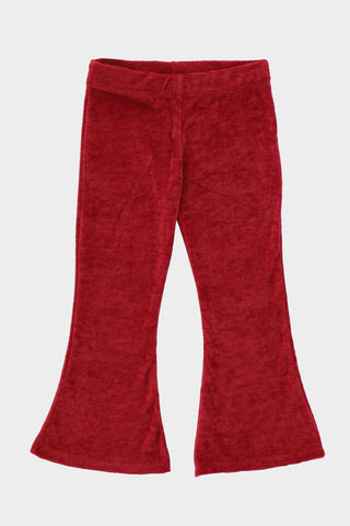 Ribbed Maroon Trouser