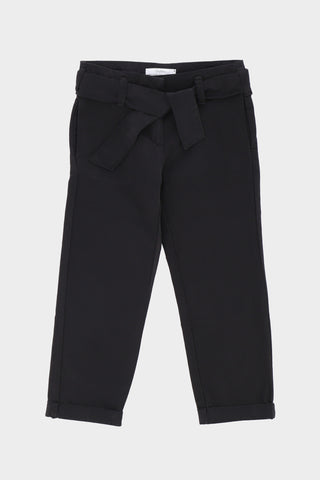 Regular fit strap belted Black Trouser