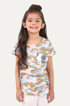 Sequenced camoulage T-shirt