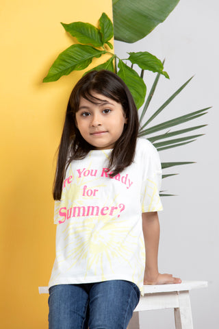READY FOR SUMMER PRINTED T-SHIRT