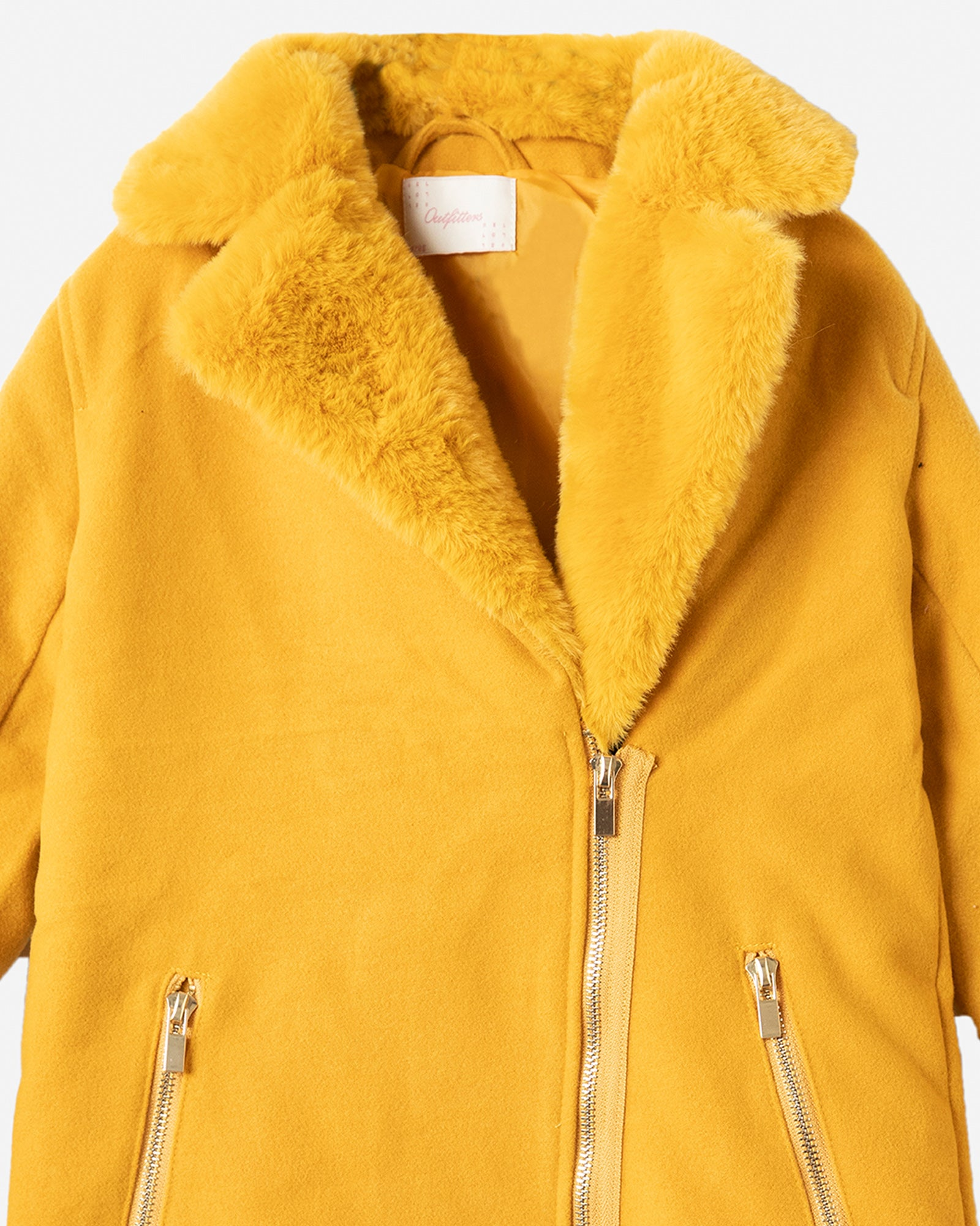 Sueded Jacket with Fur