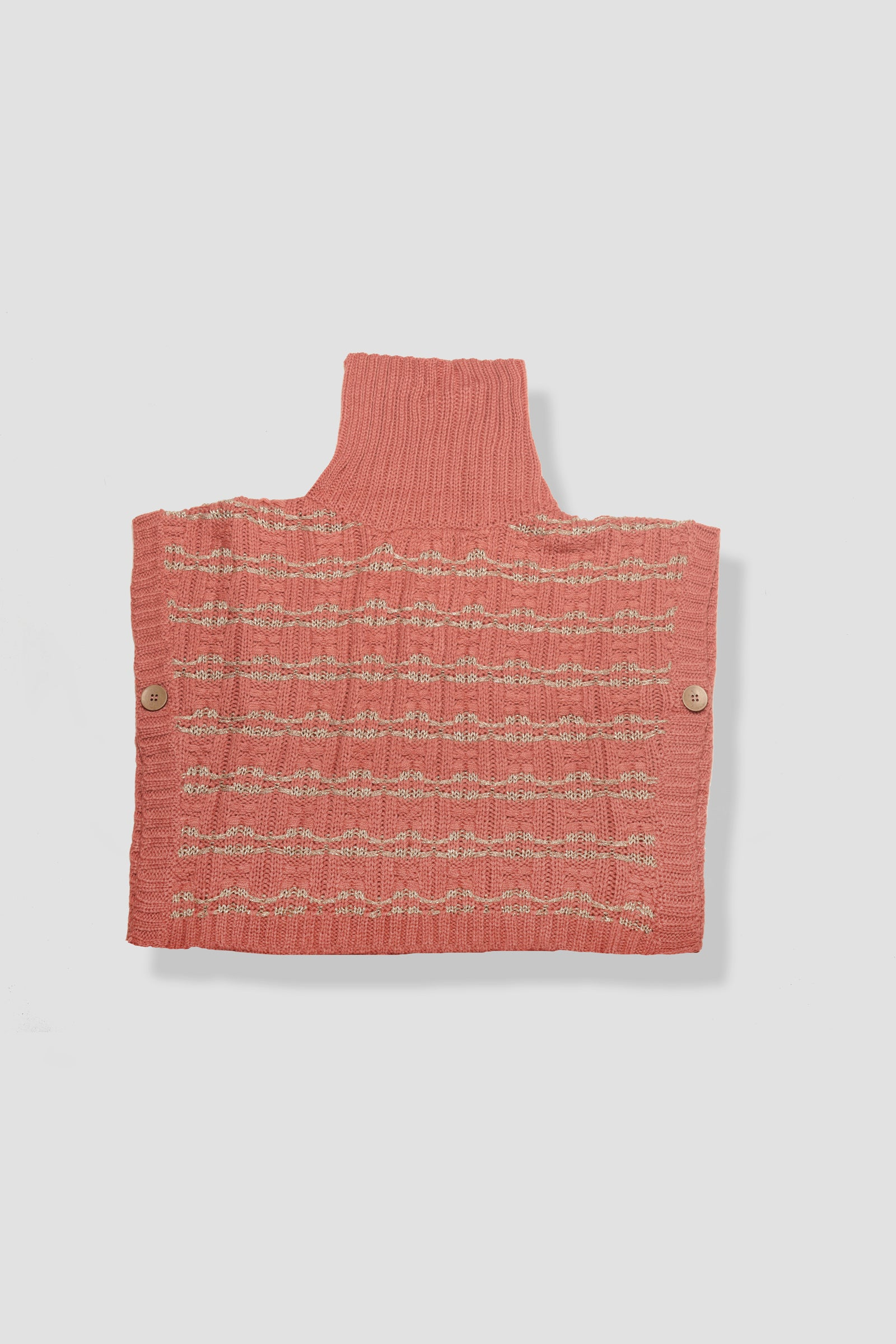 Knitted High-neck Vest