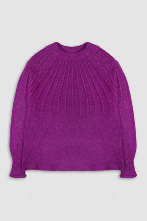 Fancy Raglan Ribbed Jumper
