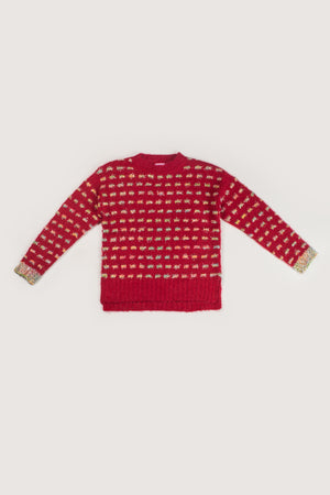 shimmer cuffs SWEATER