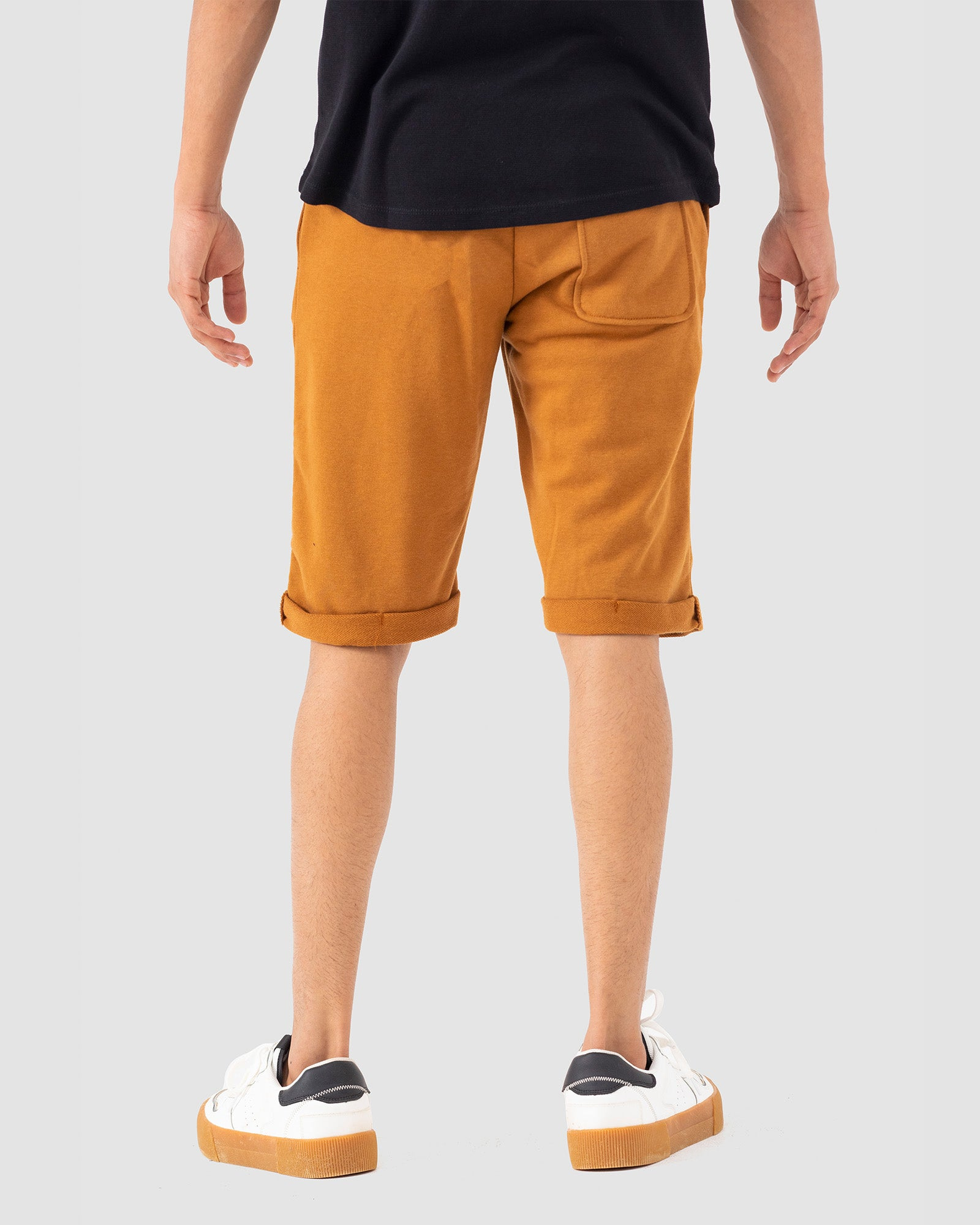 Escape Jersey Shorts with Turned-up Hem