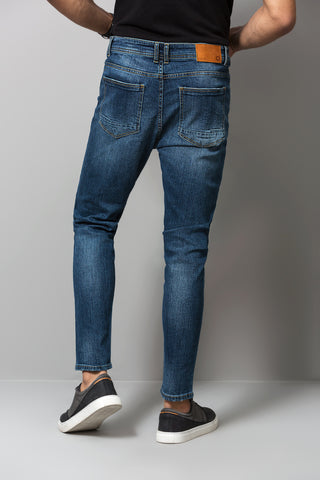 Carrot Cut Medium Washed Jeans