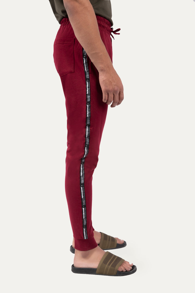 Jogging Trousers with a Side Text Tape