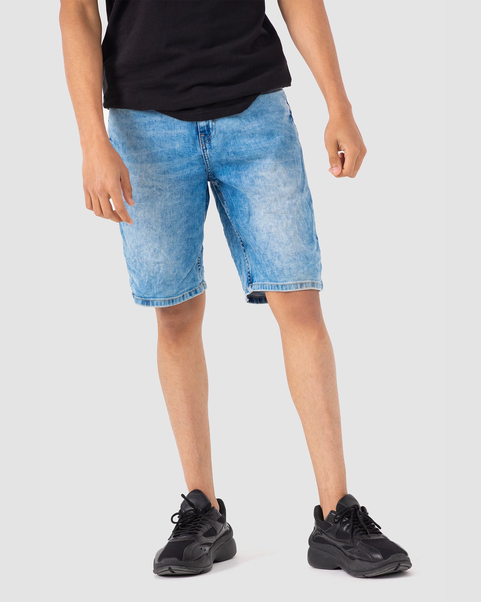 Skinny Fit Denim Shorts with Stretch