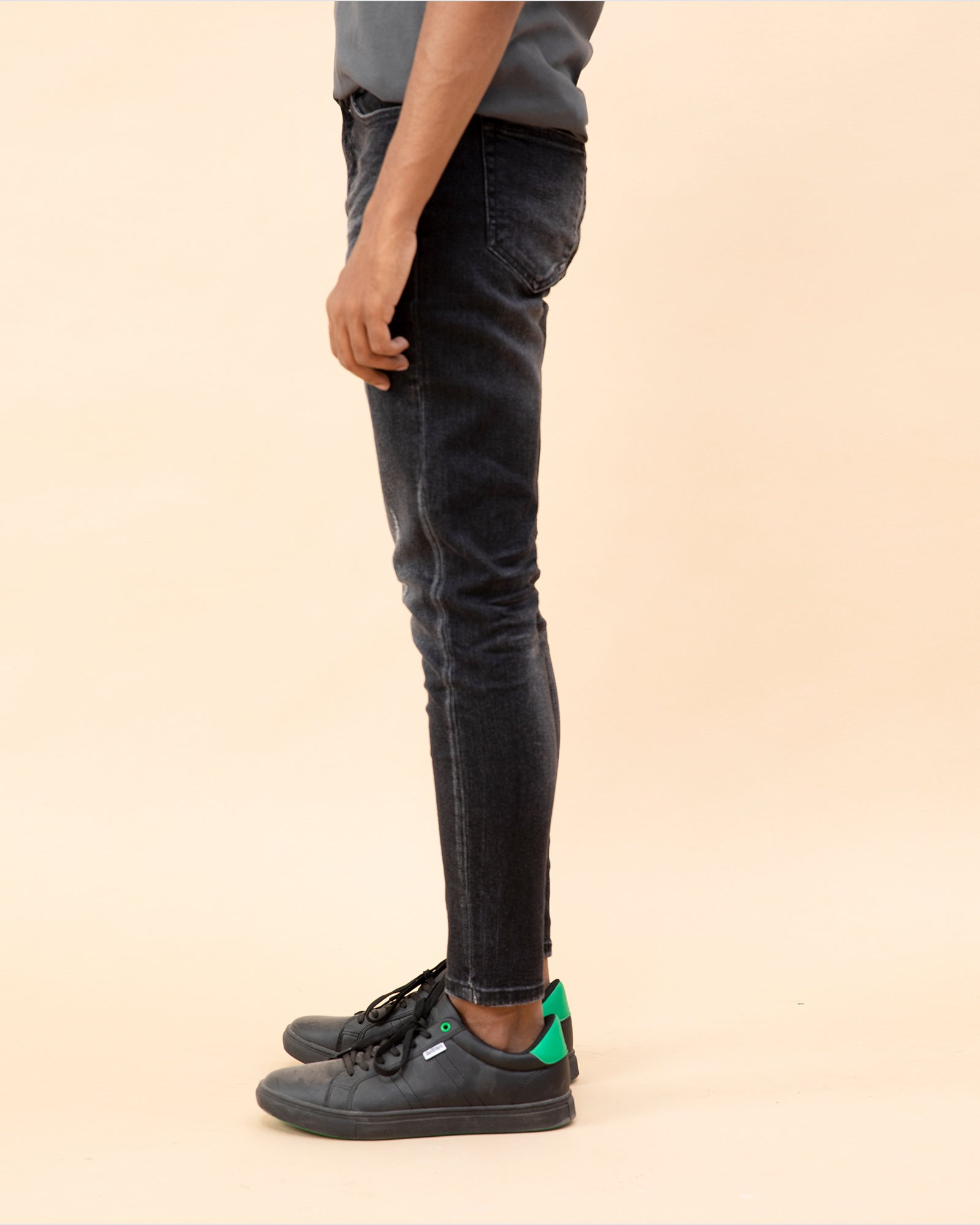 Faded Jeans with Whisker Detail