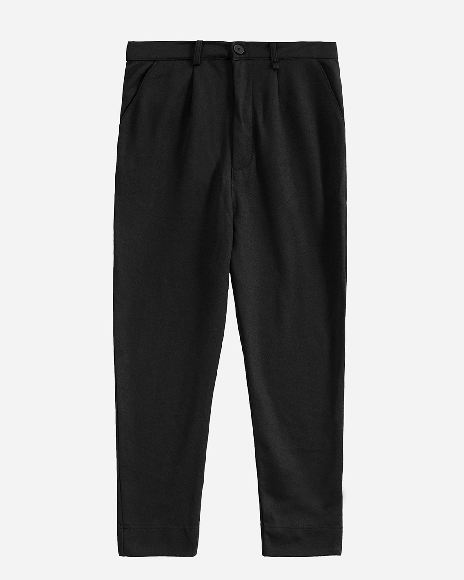 Straight Fit Trousers with Front Pleats