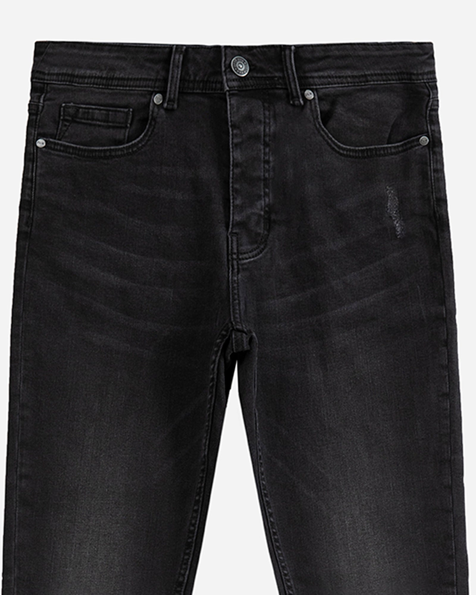 Rugged Effect Carrot Fit Jeans