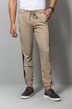 BLACK STRIPE chinos