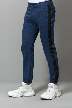 Navy STRIPE chinos